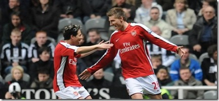Bendtner and Nasri
